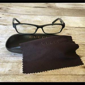 Gucci black plastic eyeglass frames